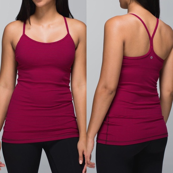 1bc0f2a70086b lululemon athletica Tops - Lululemon Power Y Tank Top Luon In Bumble Berry